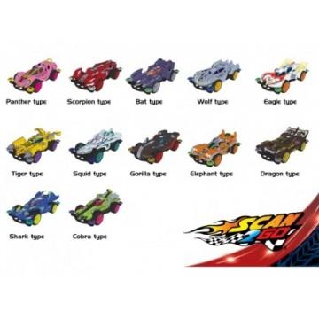 Drago colorato c/spada set 4 colori h cm. 12