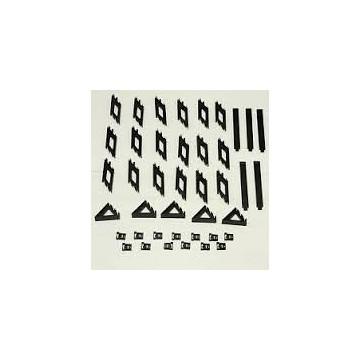 TAMIYA 54443 xv-01 in carbonio rinforzato e parti (sui montanti posteriori) (xv01/xv-01t), Nuovo con imballo